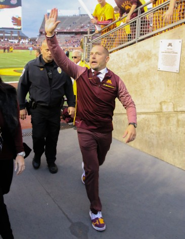 OCTOBER 21: Minnesota Gophers take on Lovie Smith and the University of Illinois,for Gopher Homecoming,at TCF Bank Stadium,Minneapolis Minnesota.